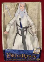 "Lord of the Rings Return of the King: Deluxe Poseable Gandalf the White - 12"" Figure"